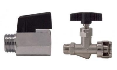 Mini kranas, adatinis ventilis